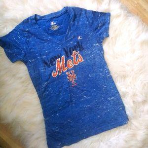 3/22$MAJESTIC New York mets baseball women's shirt